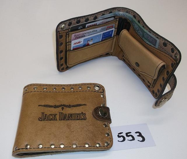 e3534e13d293a Portfel skórzany z wytłoczką